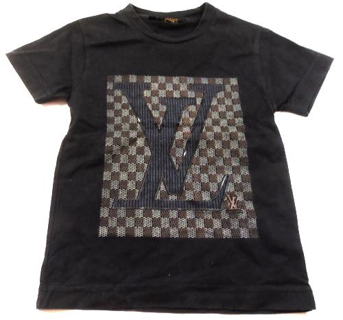 83b94a1fcbf5 Černé tričko spotiskem zn.Louis Vuitton